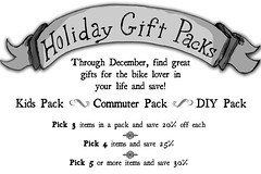 Holiday Gift Packs at our Bike Shop