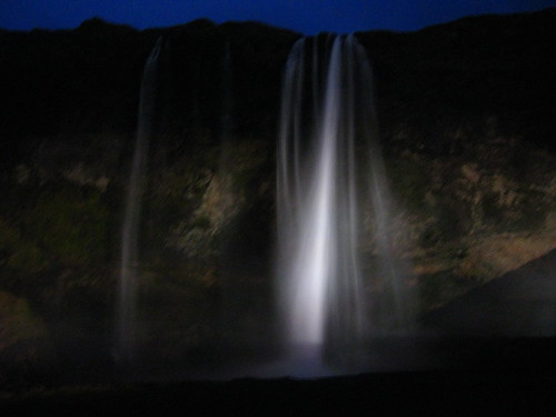 Seljalandsfoss at Night
