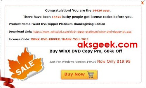 WinX DVD Ripper license key