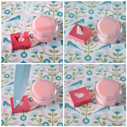 Hand made strawberry lip balm - steps 9-12