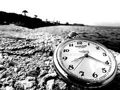 Gemiten gelecee yol verir zaman... (Yener ZTRK) Tags: travel bw turkey time trkiye aegean turquie trkorszg trkei saat deniz sb turkije smyrna 1925 izmir ege turchia sahil  turkei siyahbeyaz yal gztepe gzelyal turcha turkqua yenerztrk  t t t egekrfezi tcddsaati serksof yenerphotography