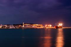 When the night comes (Theophilos) Tags: sea sky lighthouse reflection night clouds lights ship harbour crete rethymno νύχτα κρήτη σύννεφα θάλασσα λιμάνι πλοίο φώτα αντανάκλαση ρέθυμνο ουρανόσ φάροσ