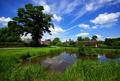 Osmaston Pond (itscosmicjim) Tags: blue england sky tree water clouds landscape derbyshire jimbell pentaxk10d osmastonpond