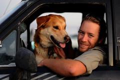 jon (*monika) Tags: auto california portrait usa dog santacruz man car truck 50mm dusk porträt hund mann dämmerung kalifornien westcliffdrive 100strangers