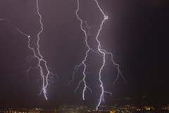 lightnings over city (explore) (dtsortanidis) Tags: city sky storm nature night clouds canon 50mm mark explore ii 5d thunder ef dimitris patras patra dimitrios lightnings tsortanidis