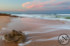 (scifitographer) Tags: ocean sunset beach rock florida atlantic february 2012 coquina bethanthony retroreflectography