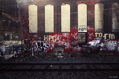 (Into Space!) Tags: urban philadelphia train graffiti rip tracks tags amtrak philly graff bombing throw fill ynot fillin throwie intospace ynotse