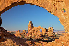 Turret Arch, Window Arch (Explored) (Daryl L. Hunter - The Hole Picture) Tags: southwest landscape utah sandstone desert moab archesnationalpark turretarch windowarch archescanyonlandsmoabnationalparkutahmoabunitedstatesmoab