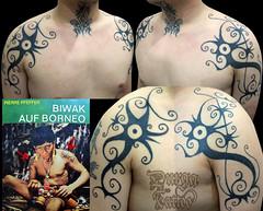 Dayak Punan Shoulder Tattoos (durgatattoo) Tags: tattoo indonesia long hand head traditional culture borneo tribes warrior nomad hunter shoulder shaman iban tapping kalimantan kayan glat dayak punan nusantara kalbar kenyah kaltim kalten
