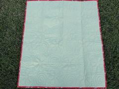 Back of flower quilt