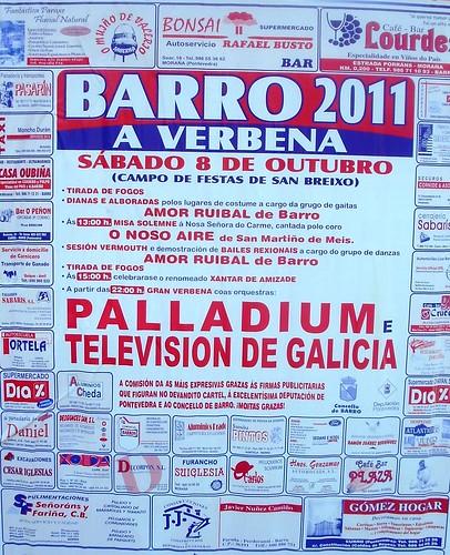 Barro 2011 - A verbena - cartel