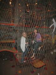 Beth and Meghan climbing