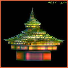 *PAGODA* (MONKEY50) Tags: pink blue orange abstract black color colour green art colors yellow digital colours purple mauve fractal fractals beautifulphoto flickraward colourartaward musictomyeyeslevel1