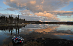 Our Office for the Week (Fish as art) Tags: sunset lake canada reflections outdoors nikon north explore wilderness nikkor northern nationalgeographic yellowknife kartpostal nationalgeographicgroup paulvecsei fishasart