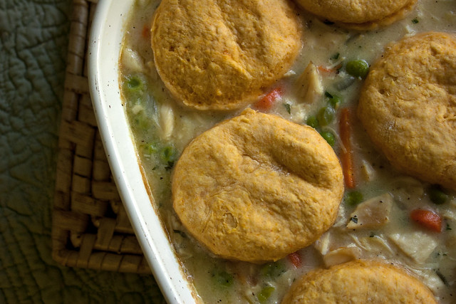 Chicken Stew with Sweet Potato Biscuits