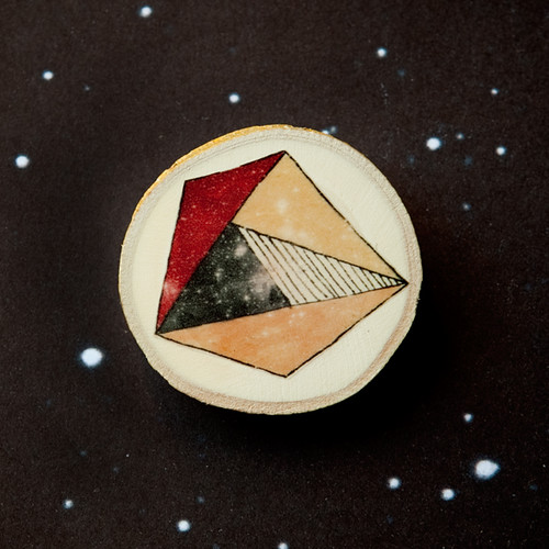 Geometric asteroids - Brooches -