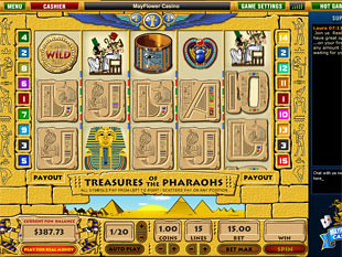 Treasures of Pharaohs slot game online review