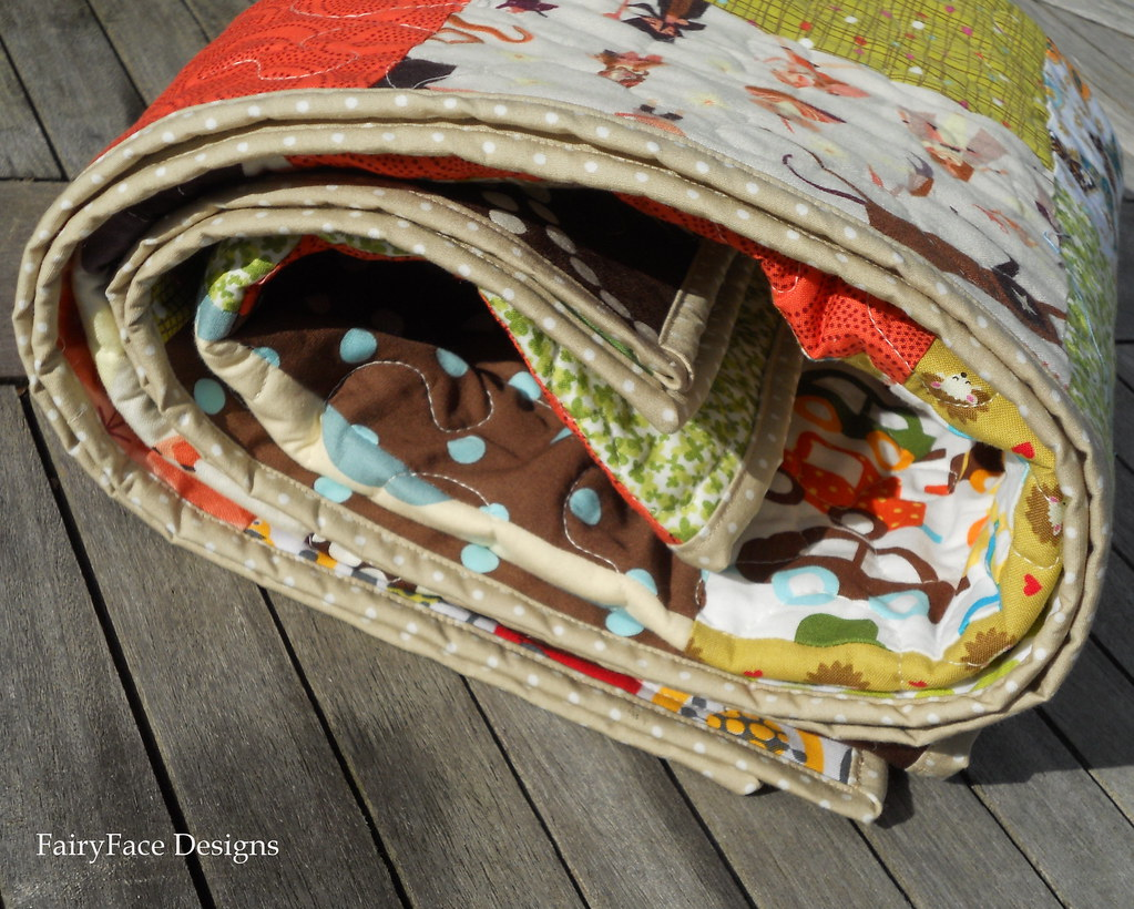 Autumn Baby quilt binding