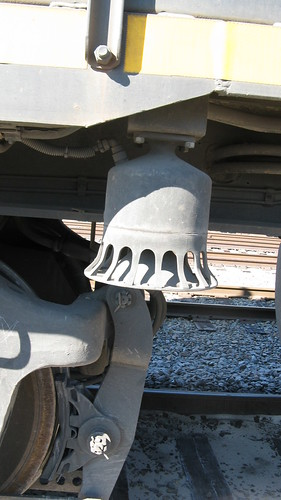 "A ""New"" digital electronic bell on Belt Railway of Chicago EMD roadswitcher # 583.  Chicago Illinois USA. Saturday, October 15th, 2011. by Eddie from Chicago"