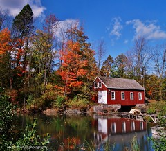 autumn reflections at decew morningstar mill (Rex Montalban) Tags: autumn ontario reflections colours stcatharines stitched decew nonhdr morningstarmill vertorama powerglen decewmorningstarmill rexmontalbanphotography pse9