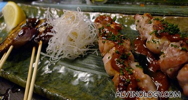 Assorted Kushiyaki - grilled skewers