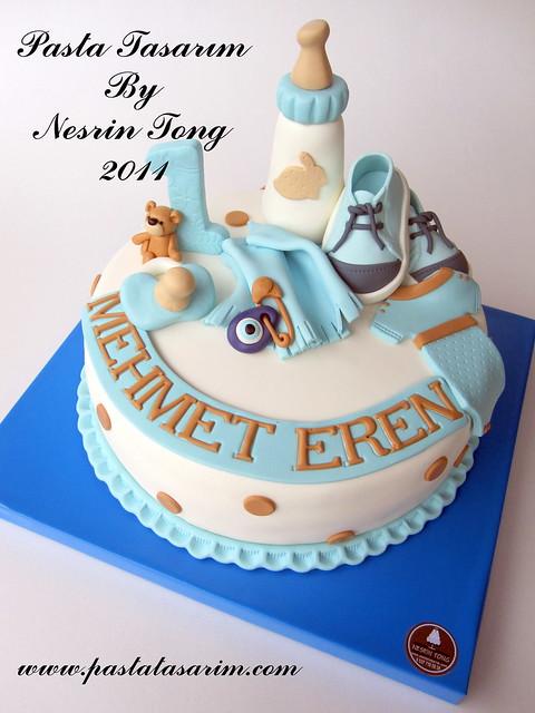 mehmet eren 1st birthday cake