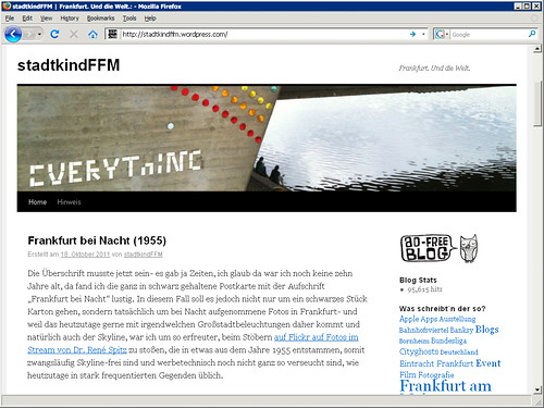 Blog Stadtkind Webseite Screenshot