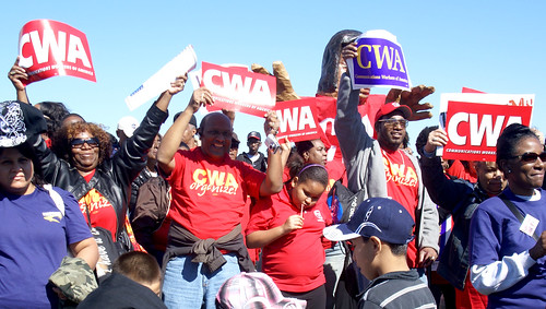 CWAers at MLK March