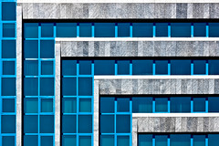 Cascade Facade [Explored #253] (Cornelli2010) Tags: blue building lines architecture facade pattern angle graphic geometry istanbul architektur winkel blau cascade gebude fassade kaskade geometrie fabel grafisch 90degrees linien canon50mm14 canon500d 90grad featuredonadidapcom rebelt1i