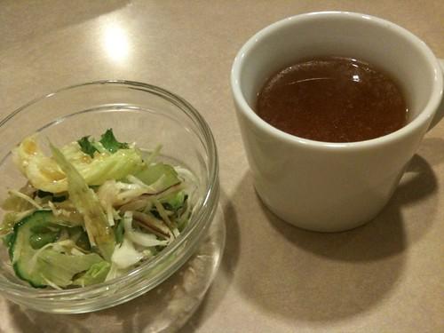 サラダとスープ@ステーキのくいしんぼう 京橋