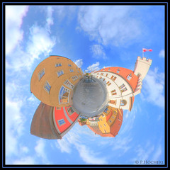 Nabburg Oberer Markt - LittlePlanet (P.Hcherl) Tags: germany bayern deutschland bavaria nikon sigma 2009 hdr oberpfalz d300 nabburg ptgui littleplanet upperpalatinate sigma45mmf28exdccircularfisheye