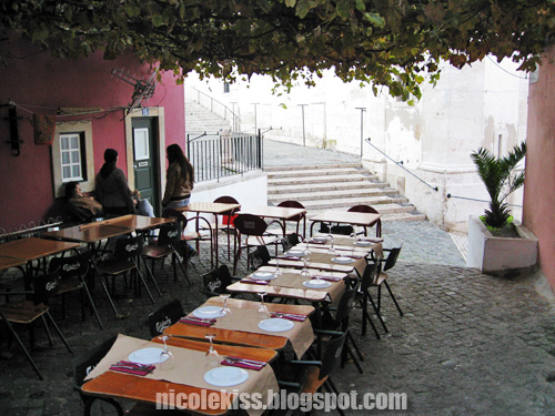 outdoor dining at santo antonio