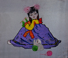 Embroidery house (Rita Willaert) Tags: girls handmade embroidery meisjes northkorea handwerk pyongyang borduren embroider noordkorea