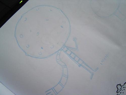 versão alternativa do Menino Lua