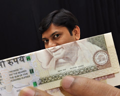 Kindly note [Explored] (Bhaskar Dutta) Tags: boy portrait india selfportrait man face idea funny humor creative humour explore note gandhi 500 portfolio currency gandhiji rupees portraitvn portraitvnwinner