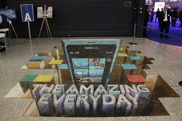 Nokia Lumia 800 Floor Art