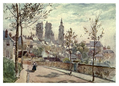 023-Catedral de Lâon-Cathedral cities of France 1908- Herbert Menzies Marshall