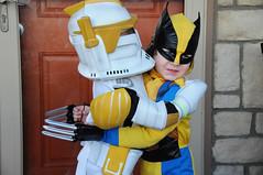 Rocco and Carter Halloween 3 (cdubya1971) Tags: ohio halloween comics starwars costume hug or xmen hugs treat trick wolverine clonetrooper 2011 carterwhitt