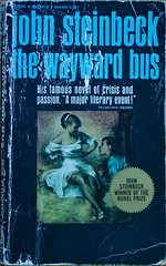 Just Off the Shelf (buffdawgus) Tags: book books paperback bookcover bookjacket johnsteinbeck thewaywardbus