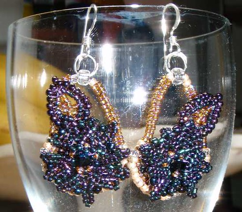 Night Earrings by Clare Thomas