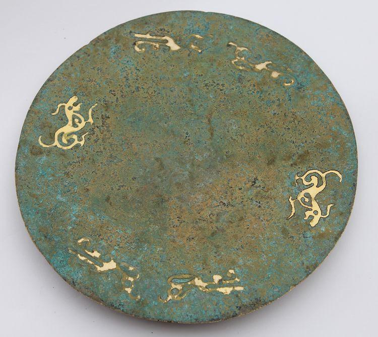 #13 bronze round mirror