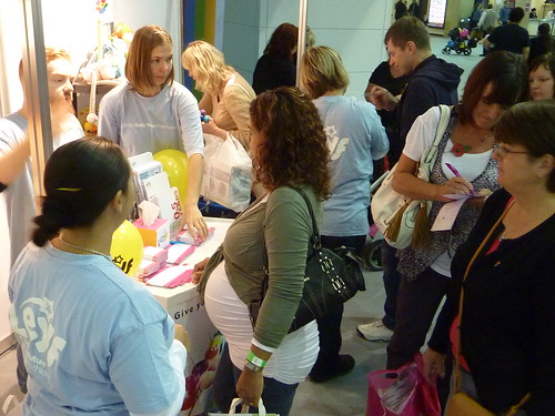 LEYF staff supporting parents at the Baby Show Earls Court
