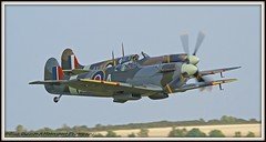 SUPERMARINE SPITFIRE Mk LFVbk & MkVb (Wings & Wheels Photography.) Tags: canon wwii duxford bdp raf worldwar2 imperialwarmuseum battleofbritain iwm royalairforce 2011 supermarinespitfire aviationphotography canoneos7d spitfiremkvb bluediamondphotographic spitfiremklfvbk