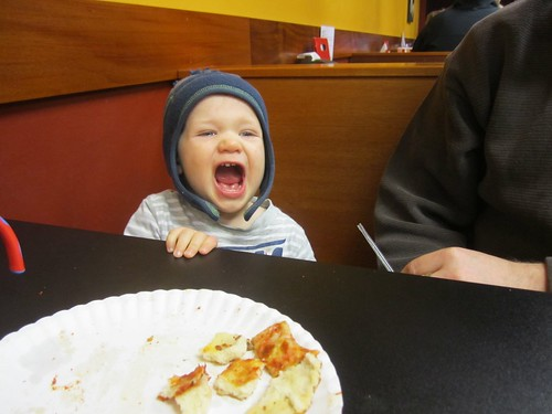 Ian, telling us how excited he is to be at New York Express Pizza