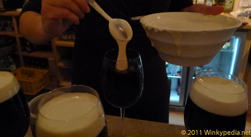 The perfect Irish coffee- full fat cream