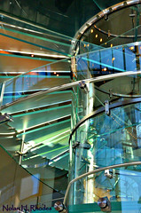 Interior Of Apple Store In Chelsea NYC (nrhodesphotos(the_eye_of_the_moment)) Tags: nyc windows sky glass metal architecture stairs reflections chelsea shadows floor interior perspective applestore ceiling walls railing brackets modernistic nrhodesphotosyahoocom wwwflickrcomphotostheeyeofthemoment dsc11731nhr