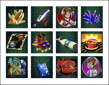 free Monkeys to Mars slot game symbols