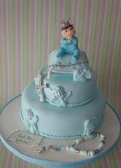 little king christening cake (*liis*) Tags: blue boy baby cake cross pillow angels rosary christening christeningcake wwwtourtescom cakeforbabyboy