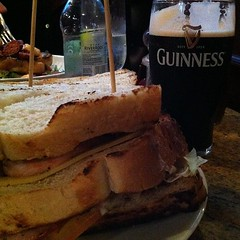 Having a club sandwich and a pint of Guinness #foodspotting