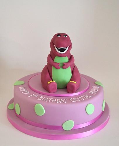 Barney dinosaur birthday cake